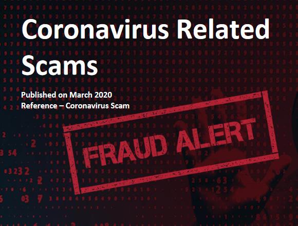 Coronavirus related scams fraud alert