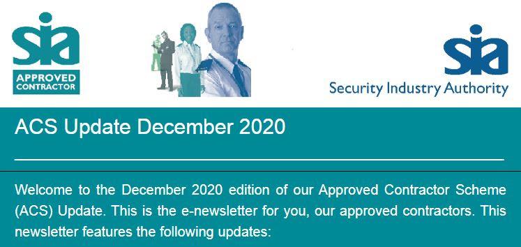 ACS update December 2020