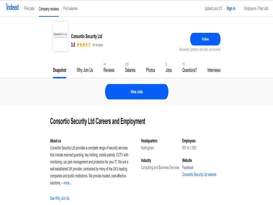 Consortio Security Vacancies